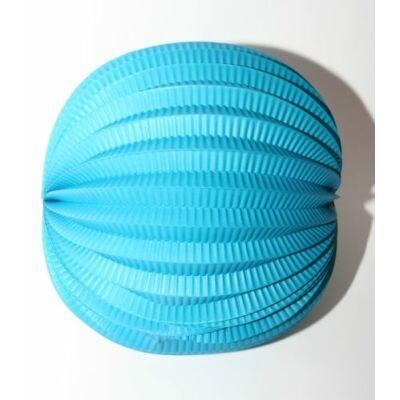 Lampion kerek türkizkék 22 cm