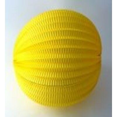 Lampion kerek citromsárga 22cm