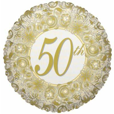 18 inch-es Házassági évfordulós 50th fólia lufi