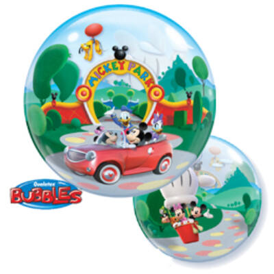 """56 cm-es Disney Mikiegér Bubbles Léggömb """"Mickey Park"""" felirattal"""