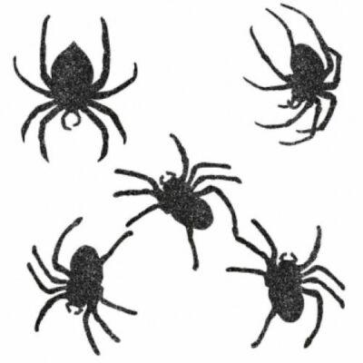 Függő dekoráció, glitteres pók mintával