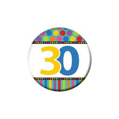 30-as Szülinapi Számos Kitűző