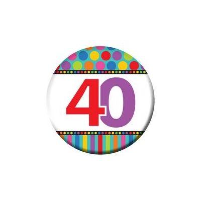 40-es Szülinapi Számos Kitűző