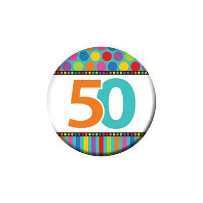 50-es Szülinapi Számos Kitűző