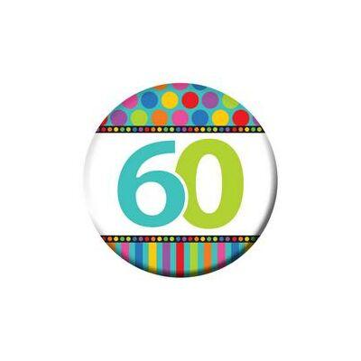 60-as Szülinapi Számos Kitűző