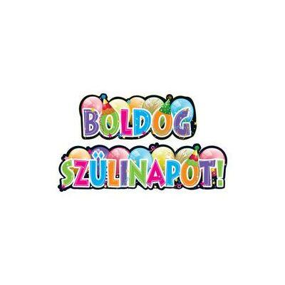 Felirat Boldog Szülinapot Party Banner - 148 cm x 27 cm