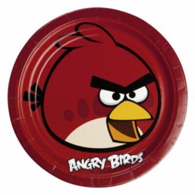 Angry Birds (Mérges Madarak) - Piros Madár Party Tányér - 23 cm, 8 db-os