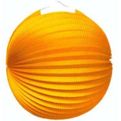 Lampion kerek napsárga 25 cm