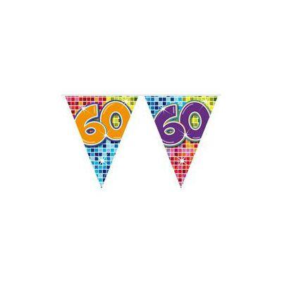 Színes Kockás Születésnapi Zászlófüzér – 60-as