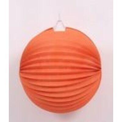 Lampion kerek narancssárga 22 cm