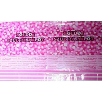 Asztalterítő Boldog születésnapos  Pink (130 x 180 cm)