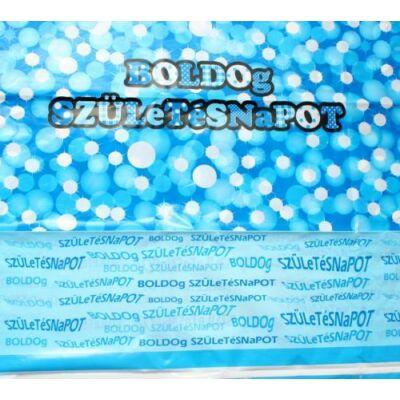 Asztalterítő Boldog Születésnapot Kék, 130x180 cm
