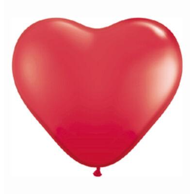 3 feet-es szív alakú latex léggömb (piros)