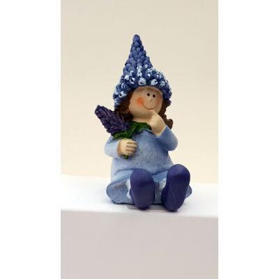 Orgona gyerek ülő 10cm-es lány figura