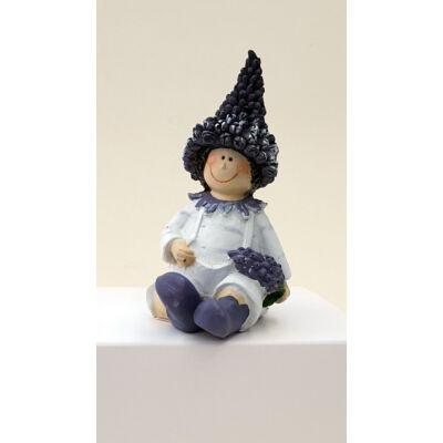 Orgona gyerek 10cm-es űlő fiú figura