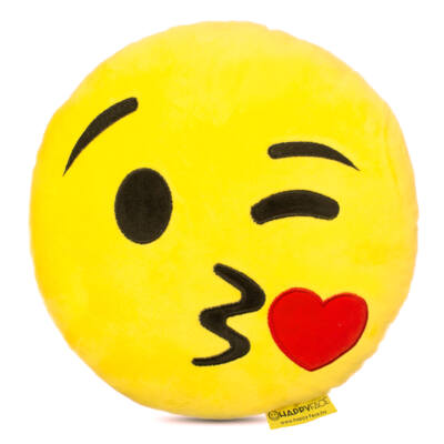Emoji párna Csókos