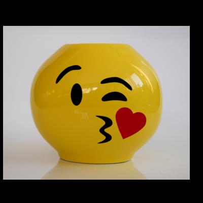Emoji persely Csókos
