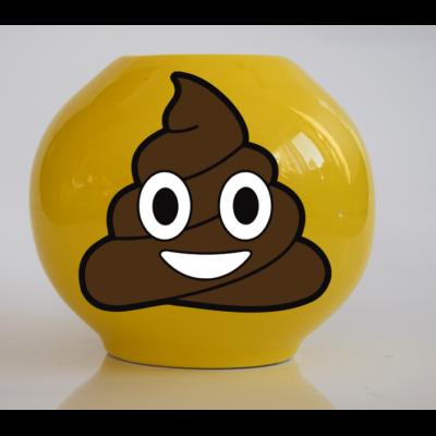 Emoji persely Kakis