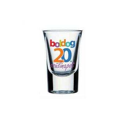 Feles pohár - 'Boldog 20. szülinapot' felirattal