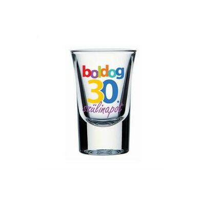 Feles pohár - 'Boldog 30. szülinapot' felirattal