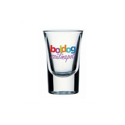 Feles pohár - 'Boldog szülinapot' felirattal