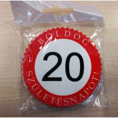 Hűtőmágnes - Boldog 20. születésnapot