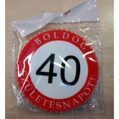 Hűtőmágnes - Boldog 40. születésnapot