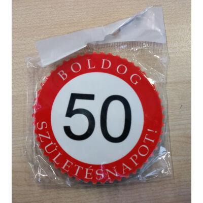 Hűtőmágnes - Boldog 50. születésnapot