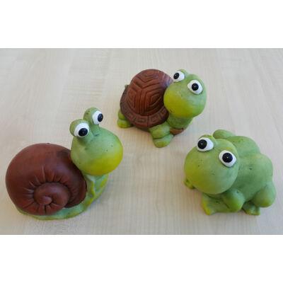 Kerámia teknős, béka, csiga