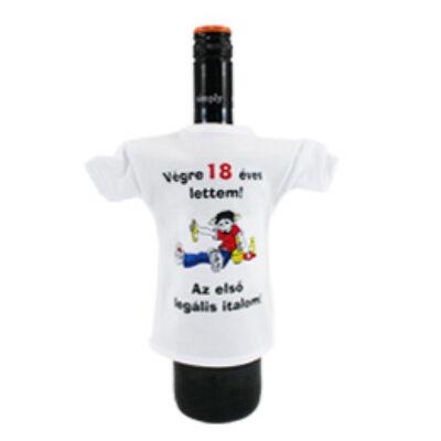 Üvegre húzható póló 18. születésnapra