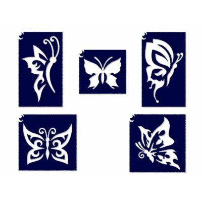 Állatos sablon szett - Pillangós 2