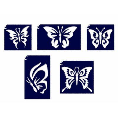 Állatos sablon szett - Pillangós