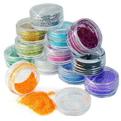 Csillámpor vegyes színekben - 5 ml