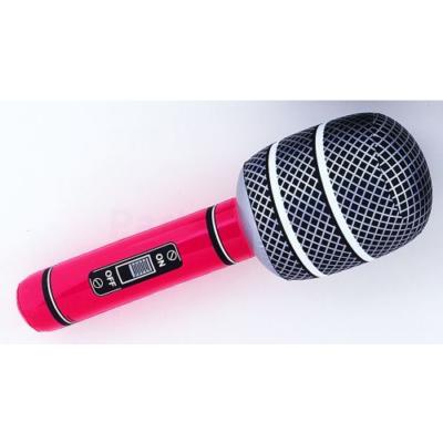 Felfújható piros mikrofon