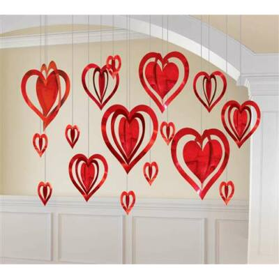 3D szív dekorációs szett