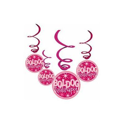 Boldog születésnapot! Rózsaszín, parti függődekoráció