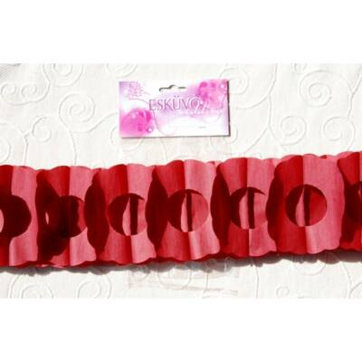 Bordó virág girland 400 x 17 x 12 cm
