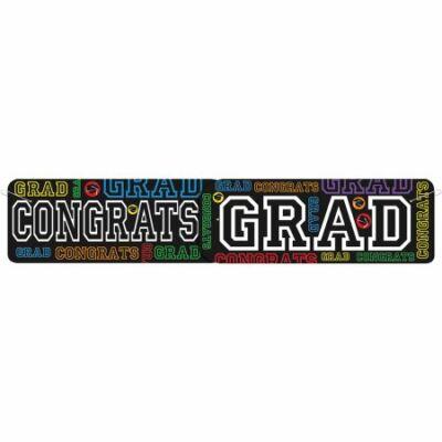 'Congrats Grad' feliratú óriás banner