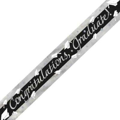 'Congratulations, Graduate!' mintás fólia felirat