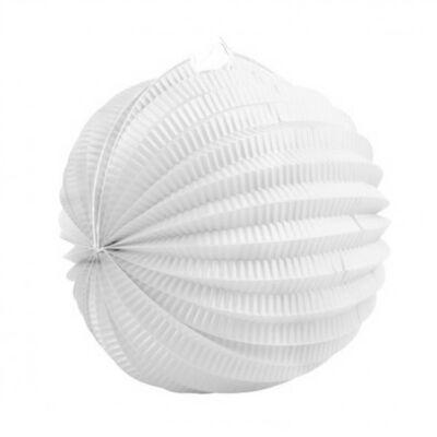 Fehér kerek lampion - 23 cm