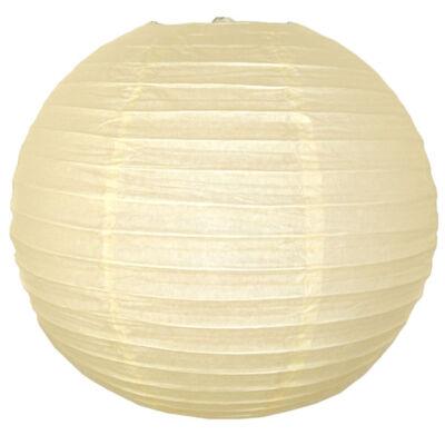 Lampion - gömb alakú, krém színű, 35 cm-es