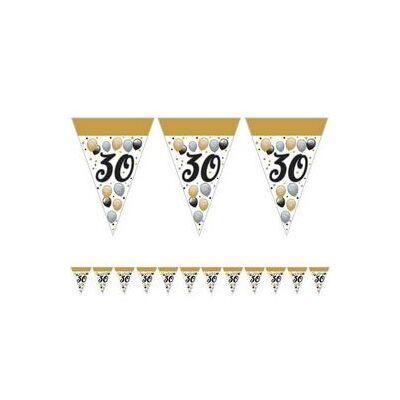 30-as Születésnapi Elegáns Léggömbös Parti Zászlófüzér - 5 m