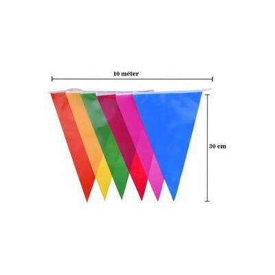 Színes zászlófüzér - 10m