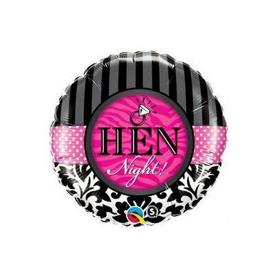 18 inch-es fólia lufi Hen Night! felirattal lánybúcsúra