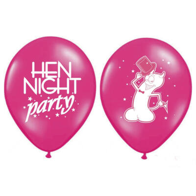 30 cm-es Hen Night Party feliratos gumi lufi