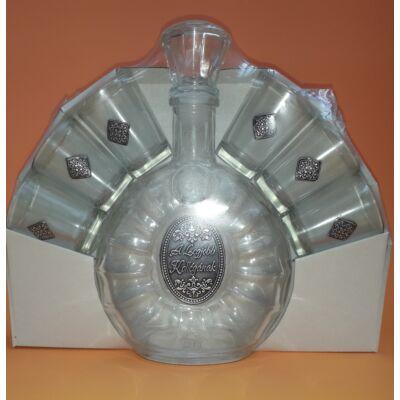 Óncímkés pálinkás készlet - A Legjobb Kollégának felirattal (0,5l palack + 6 pohár)