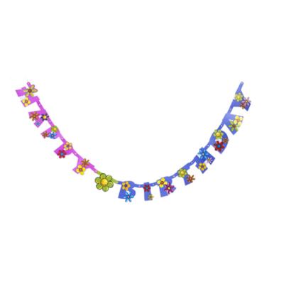 'Happy Birthday' virág mintás betűfüzér