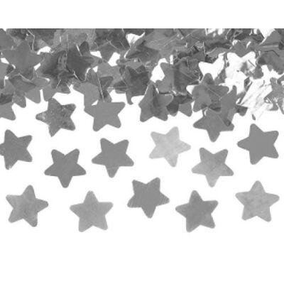 Konfetti ágyú ezüst csillagokkal 40 cm