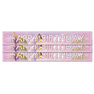 Princess Happy Birthday fólia felirat