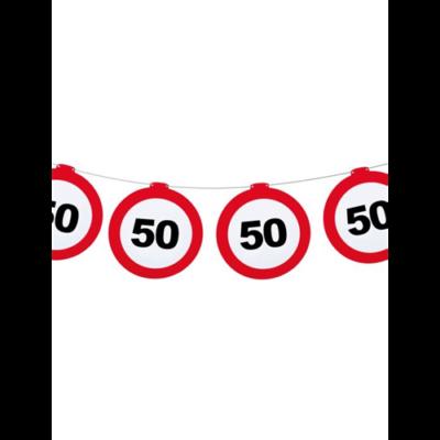 Sebességkorlátozó tábla mintás girland - 50
